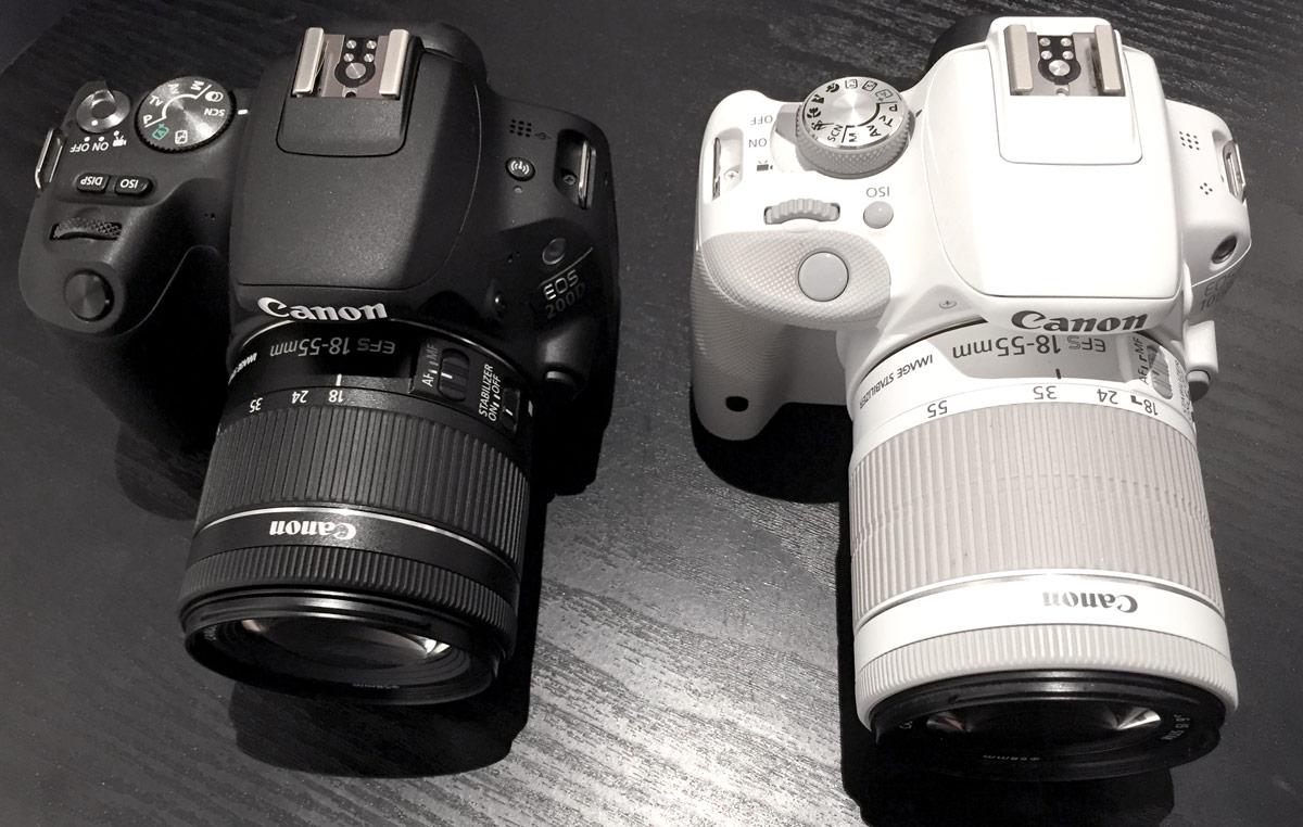 Canon 100D Canon 200D srovnání