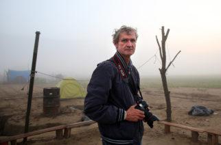 Jan Šibík v táboře Idomeni