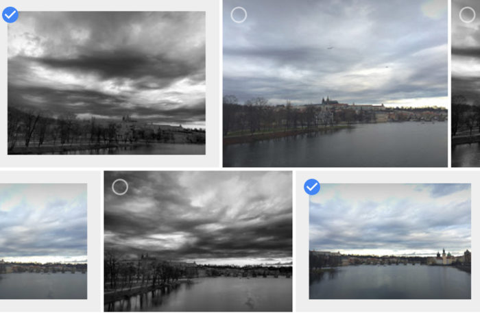 Ve webové aplikaci jsou obrázky přece jen větší a přehlednější...