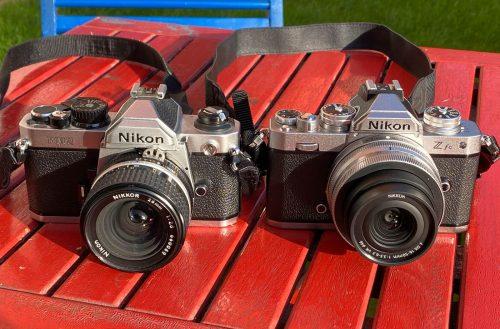 Nikon Z fc + Nikon FM2