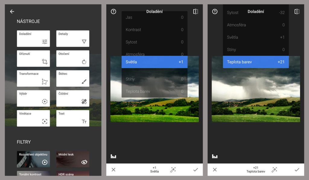Aplikace SnapSeed