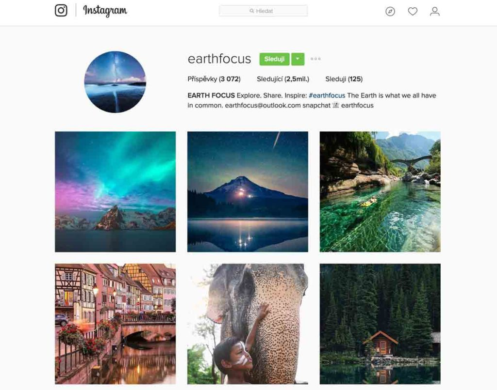 Earth Focus Instagram