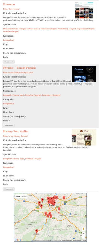 Katalog fotografů Praha