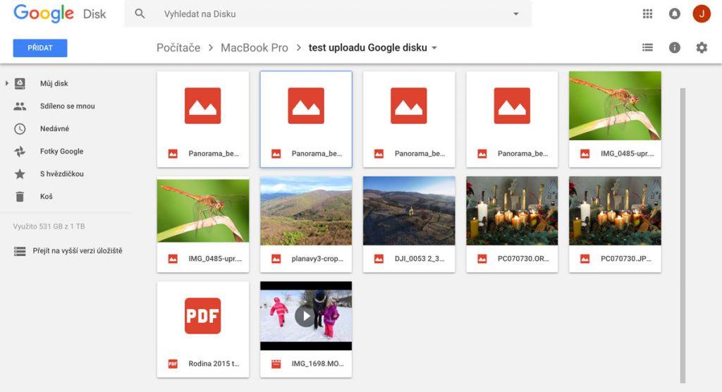 Synchronizace Google Disk