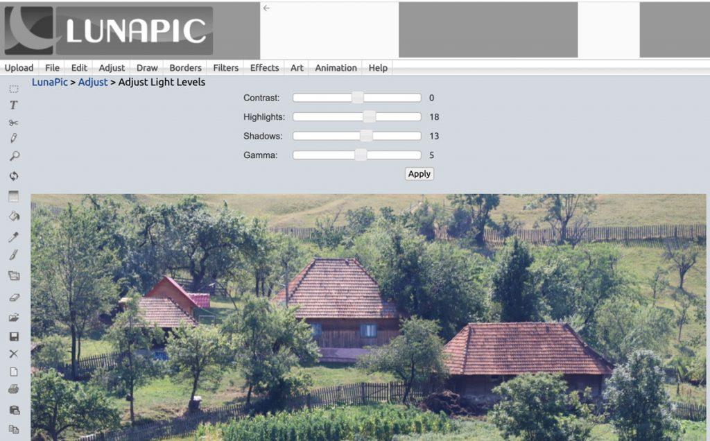 Lunapic - program na úpravu fotek