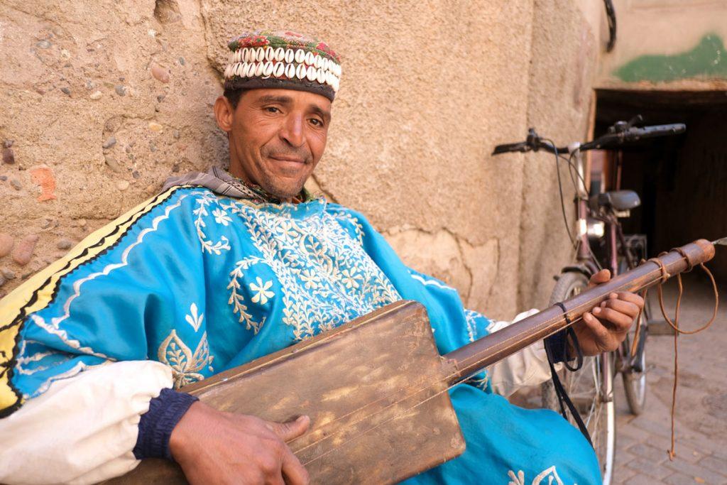 Muzikant v Maroku