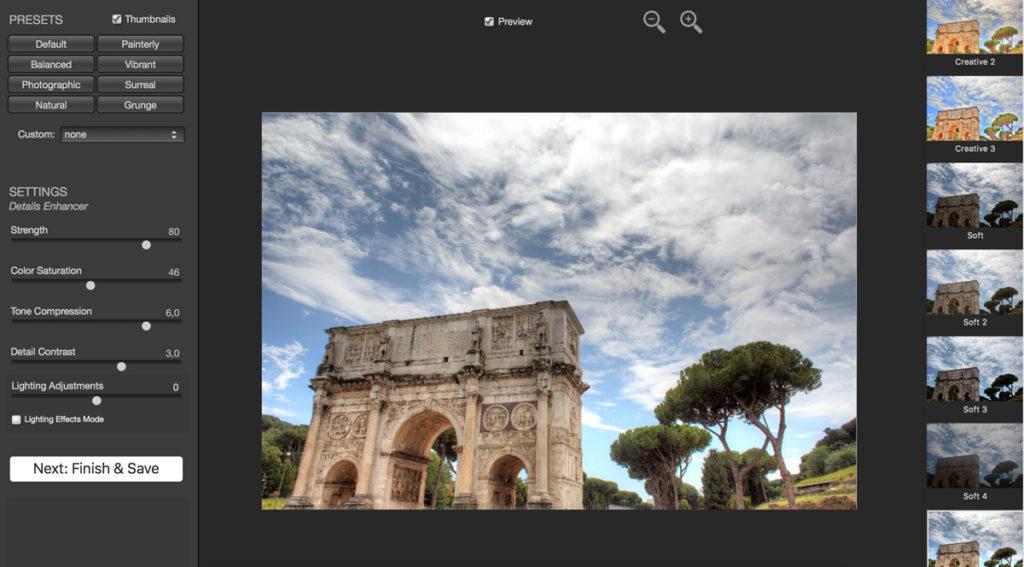 Photomatix příklad Řím