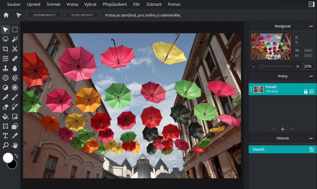 Pixlr E - úprava fotek online