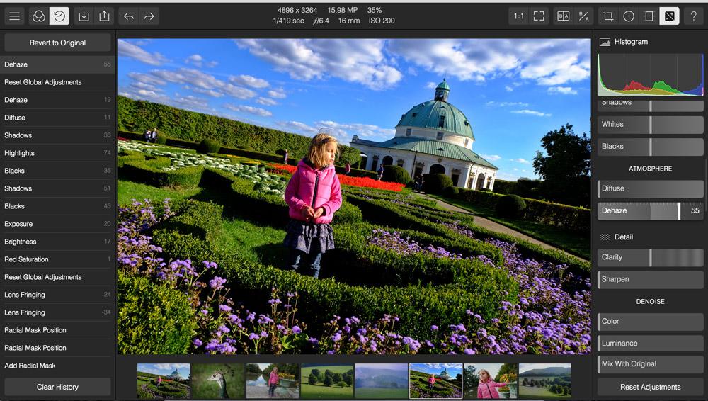 Polarr - program na úpravu fotek