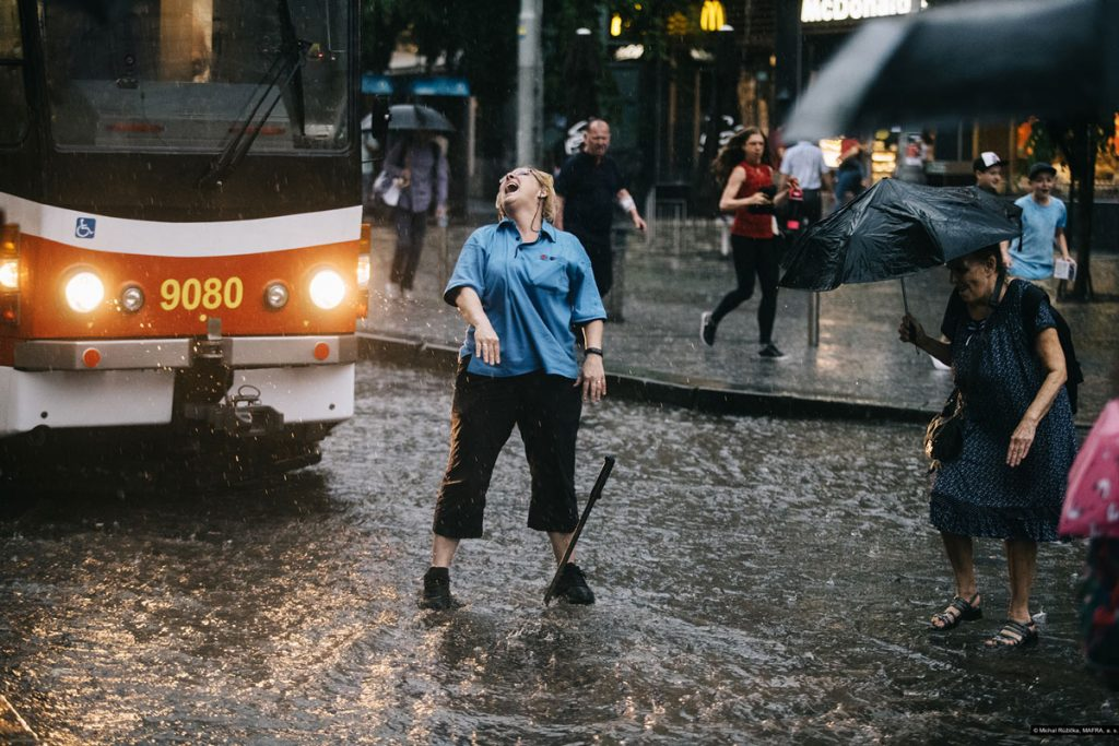 Michal Růžička řidička tramvaje